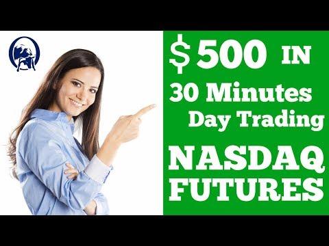 $500 in 30 min | Day Trading Nasdaq Futures | Omegavus Trading
