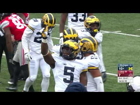 Jabrill Peppers Gets First Career Interception vs. Ohio State