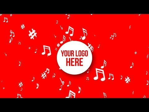 Music Notes Explosion - Your Logo Here Red / White // Free Motion Graphics