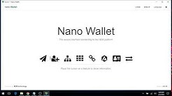 NEM Nano Wallet - Simple Wallet (Windows) - Getting Started