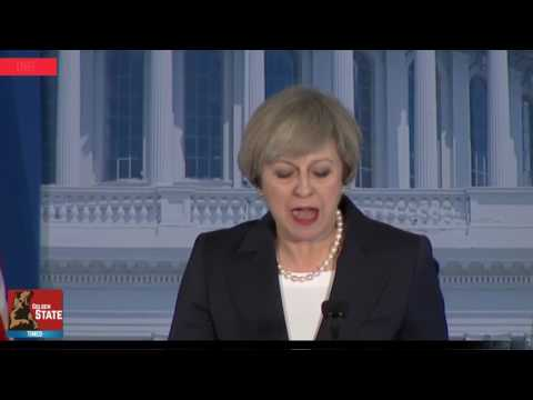 Prime Minister of the UK Theresa May attends and speaks GOP Retreat in Philadelphia Pennsylvania