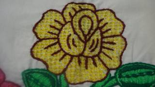 bordado fantasa rosa amarilla