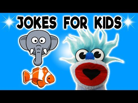 FUNNY ELEPHANT JOKE! - JOKES FOR KIDS! 100% Child-Appropriate Jokes! Fish! Shark FUNNY! Sock Puppet!