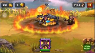 Heroes Charge Death Bringer in action