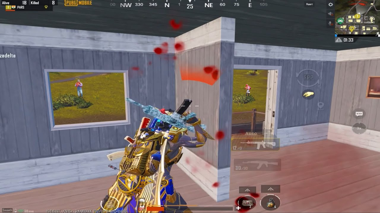 4 CONQUEROR PLAYERS VS ME 🥵 King Of Gun Game 💪🏻  Pars Pubg Mobile