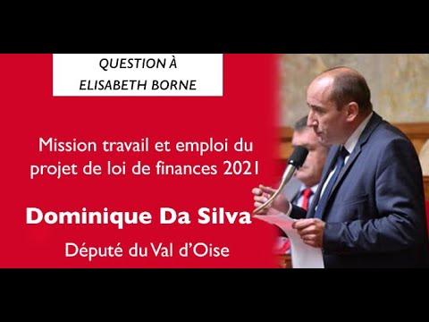 Question de Dominique Da Silva à Elisabeth Borne - PLF 2021, Mission Travail et emploi