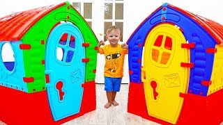 Alice and Dima build Playhouses for children