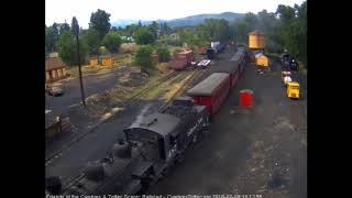 7/9/2018 Nine car train 215 arrives into Chama, NM