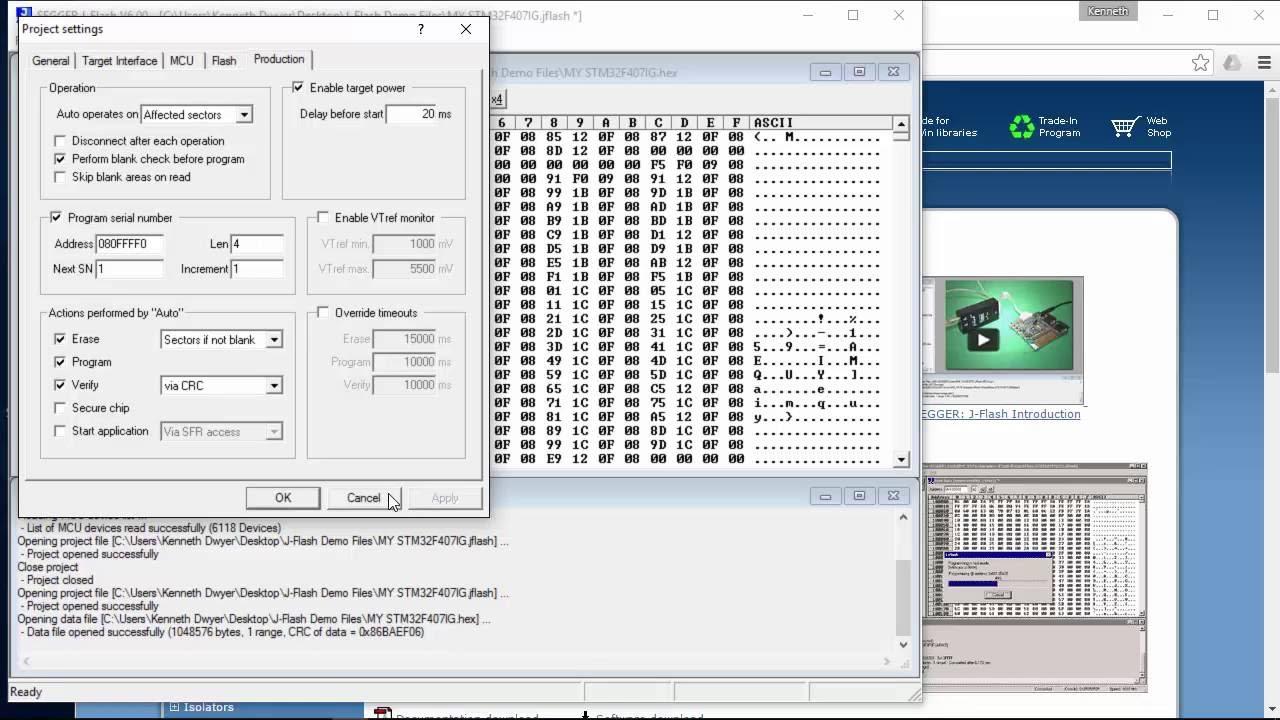 J-Flash Serial Number Programming