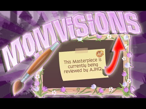 MY ARTIST MOM TRIES DRAWING IN THE ANIMAL JAM ART STUDIO | FT. MOMVISIONS