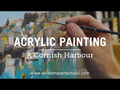 Acrylic Painting Beginners Seascape Tutorial (HD)