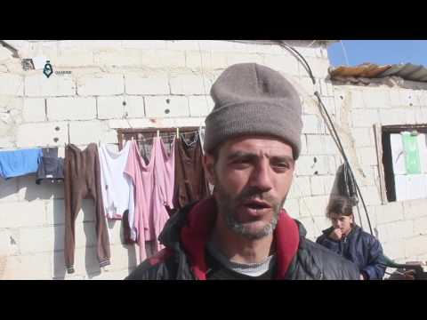 Idlib: Relief Org. spreading aid for the people displaced from Wadi Barada area 6-2-2017