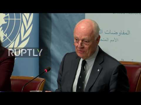 Switzerland: No immediate breakthrough expected at Syria peace talks - de Mistura