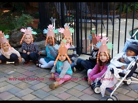 Wee Kids Child Care Videos - 10 Little Turkeys song and play