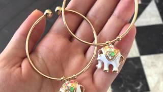 Видео Обзор #bijouday браслеты с подвесками слониками