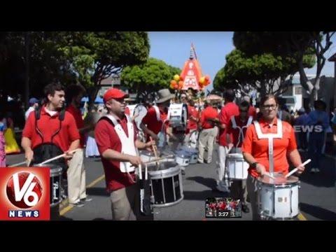 Puri Jagannath Rath Yatra At California   Hare Rama Hare Krishna Chant By Americans   V6 News