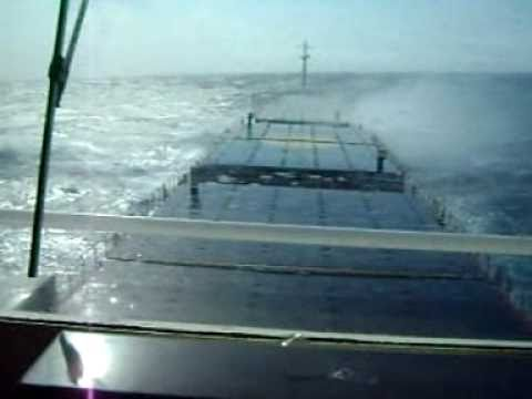 General Cargo Ship in Gale Force 8, Sailing to Marin, 13th April 2010.wmv