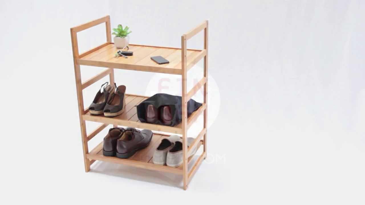 bamboo bathroom rack shoe shelves unit