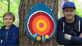 Голодная АКУЛА Battat - Весёлая развивающая игра для детей на меткость и ловкость