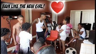 BAM LIKE THE NEW GIRL PRANK ON FUNNYMIKE & KIDS!