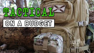 $100 Tactical Bug Out Bag Challenge...I Failed #bugoutbag #tacticalgear #survival