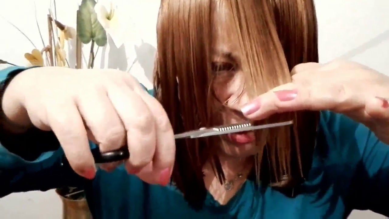 Corte de pelo con puntas desfiladas