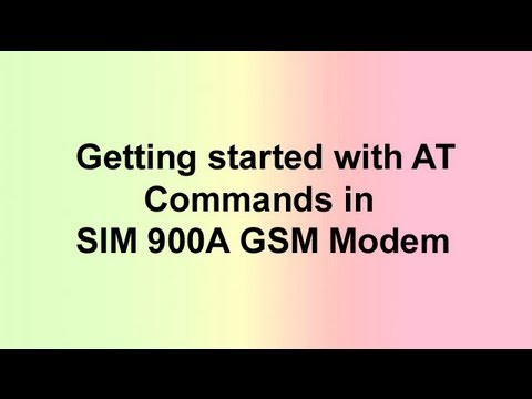 Getting started with AT Commands in SIM900A GSM Modem