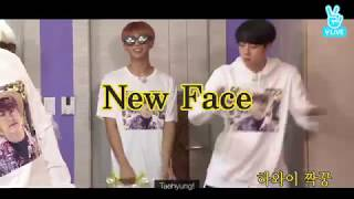 """(Sub Español) V y Suga cantan en karaoke """"New Face"""" de PSY"""