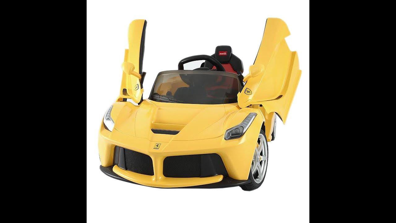ferrari la 12v voiture pour les enfants voiture jouet ferrari la 12v youtube. Black Bedroom Furniture Sets. Home Design Ideas