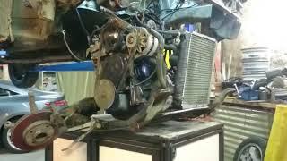 Dépose moteur R11 Turbo