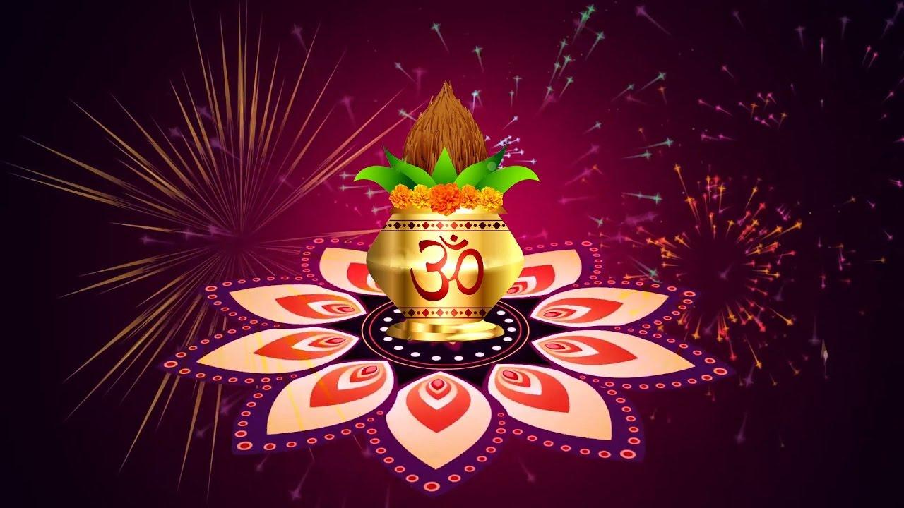 Vector Background With Kalash Kalash Indian Wedding Background
