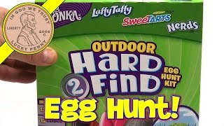 Wonka Outdoor Hard 2 Find Egg Hunt Kit - Laffy Taffy, Sweetarts, Nerds Candy