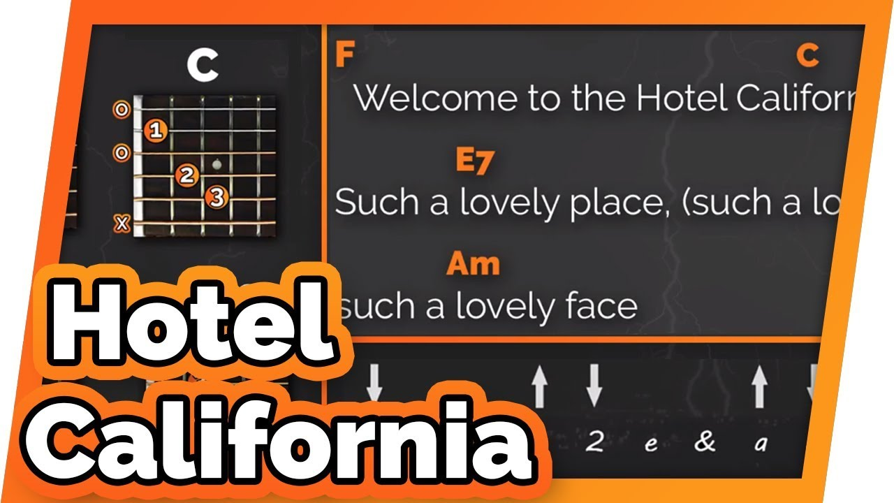 Hotel California The Eagles Play Along Guitar Karaoke Easy