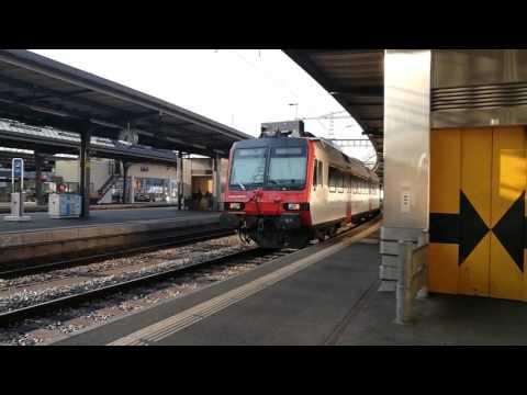 Trains en gare Genève Cornavin / Regio - Intercity - 24 juin 2017