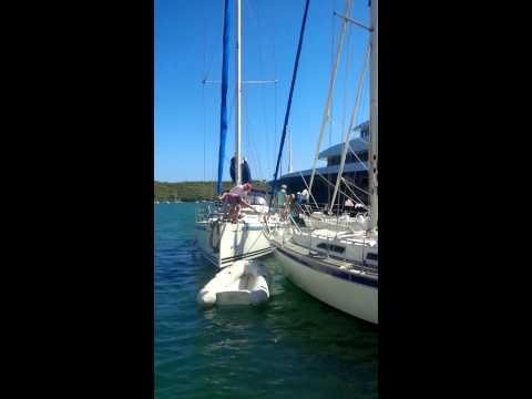 How not to park a boat in Antigua part 1