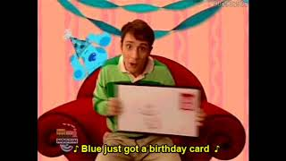 Steve Singing Blue Just Got A Birthday Card! To... The Hot Dog Dance!