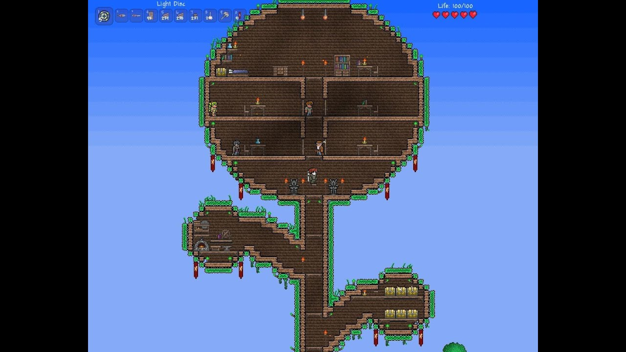Terraria Tree House Speedbuild - YouTube