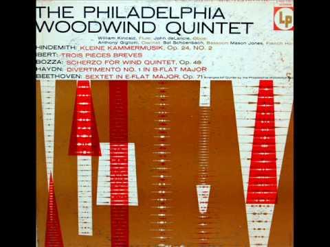 Ibert / Philadelphia Woodwind Quintet, 1956: Trois pièces brèves for wind quintet (1930)