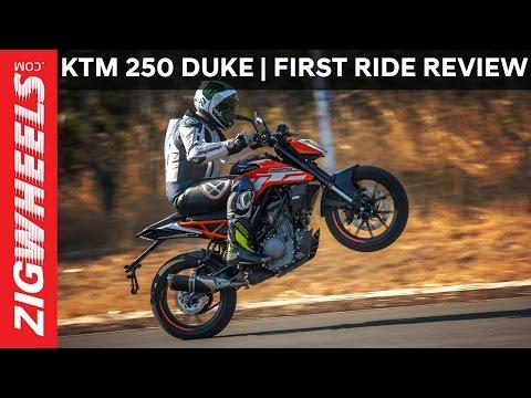 2017 KTM 250 Duke   First Ride Review   ZigWheels