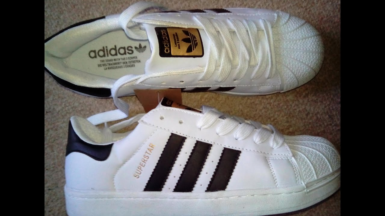 6b49d3023bb7 Adidas Superstar fakes- unpacking. - YouTube