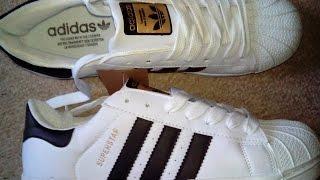 residuo Desarrollar principal  Adidas Superstar fakes- unpacking. - YouTube