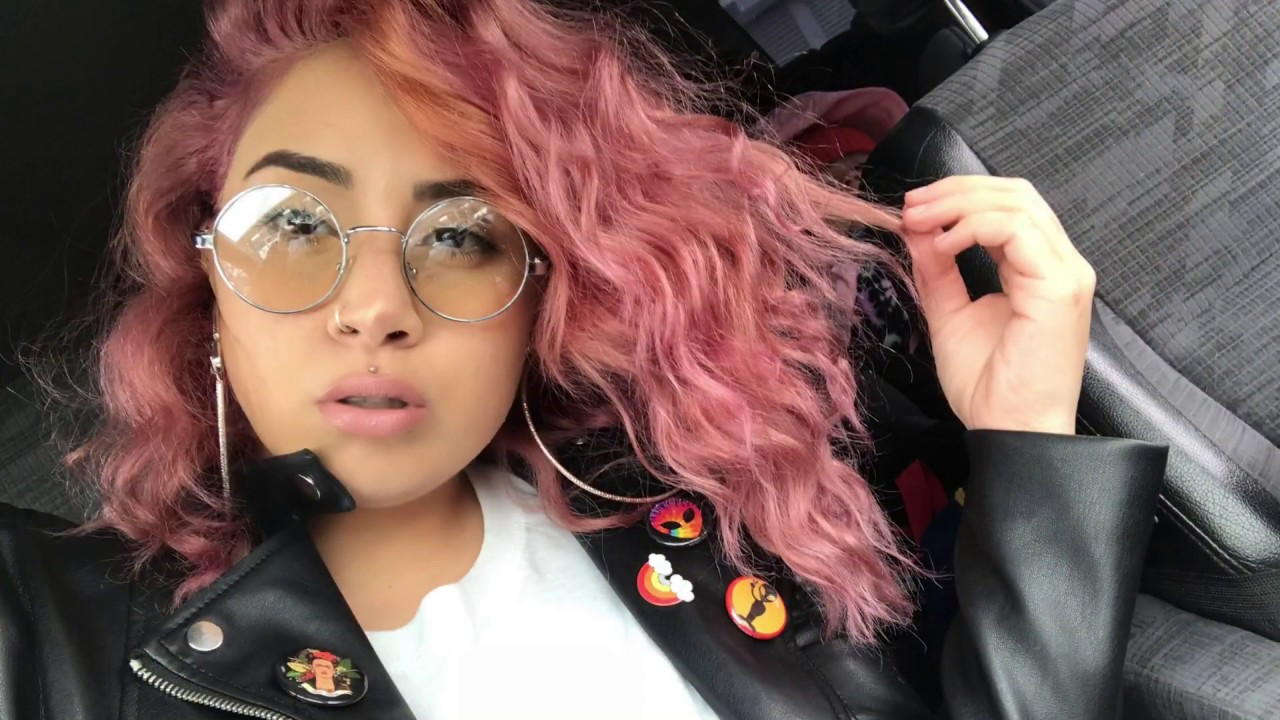 pink hair flamingo ion color