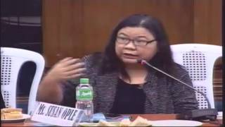 Senate hearing 2015 - SELECTED PARTS ONLY about Tanim/LAGLAG-BALA