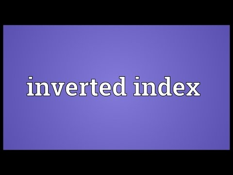 Inverted index Meaning