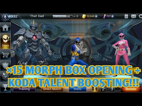 ×15 MORPH BOX OPENING + KODO TALENT TREE BOOSTING!!!  POWER