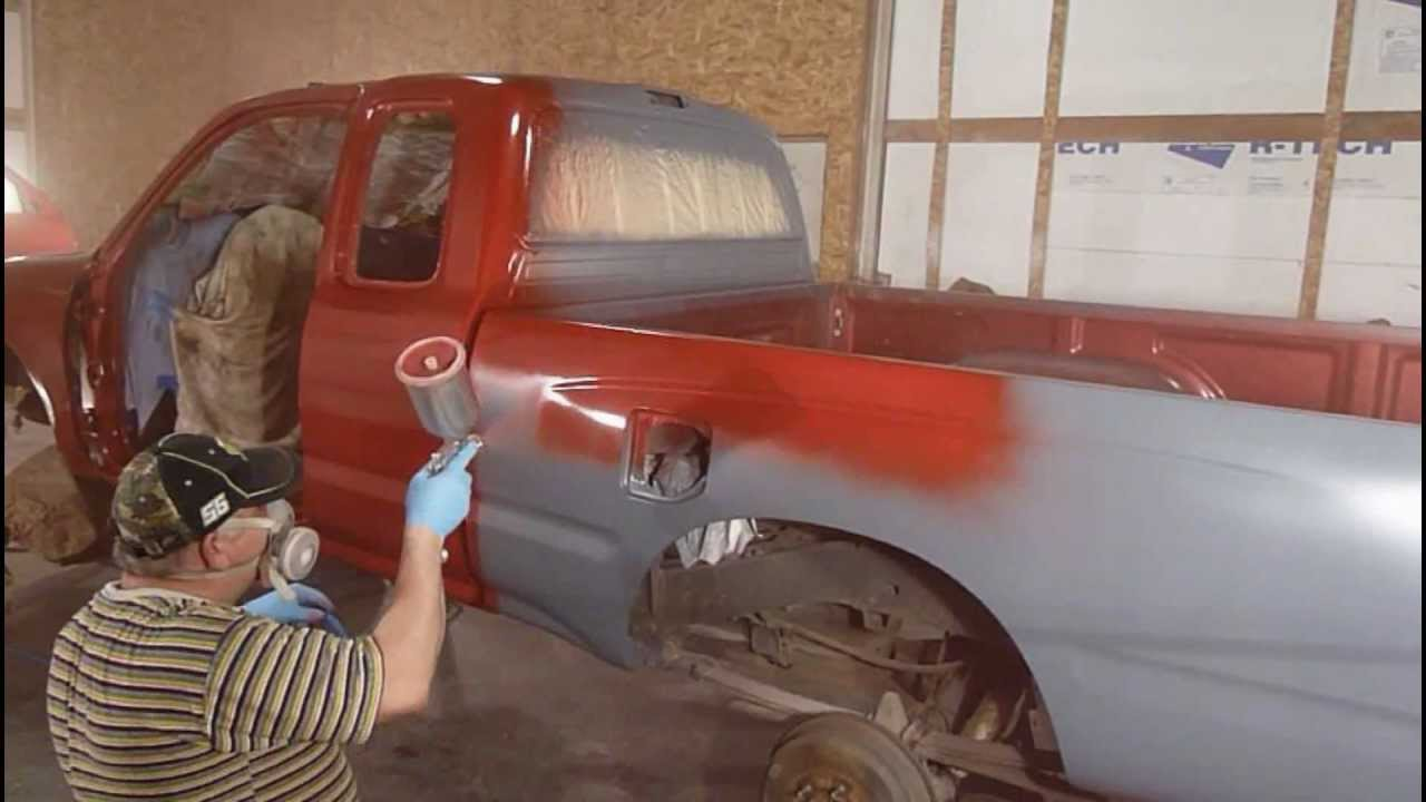 painting toyota pick up - YouTube