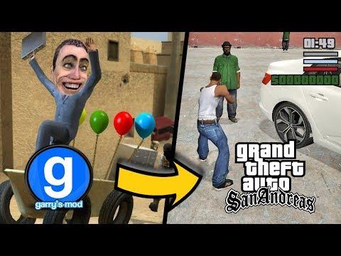 GARRY'S MOD DA GTA SAN ANDREAS'A GİTMEK! GMOD GTA thumbnail