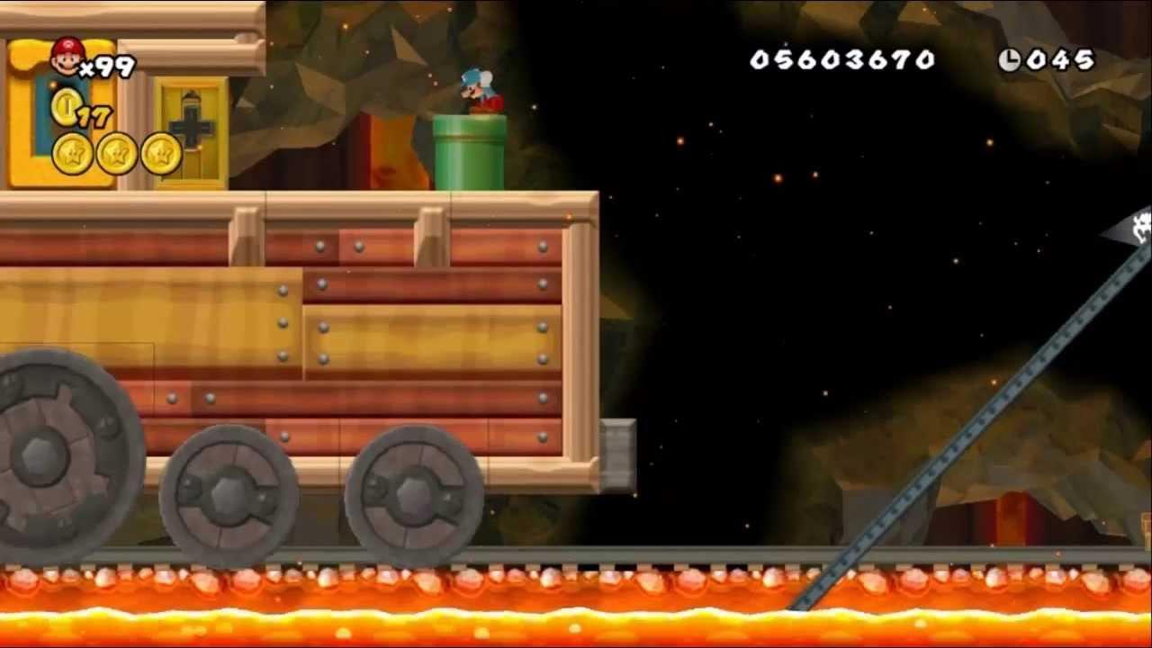 Newer Super Mario Bros Wii World 8 Underground Railroad Youtube