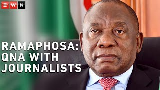 President Cyril Ramaphosa convened a virtual engagement on 31 May 2020 with members of the South African National Editors' Forum (SANEF), as well as some of the country's journalists.  #CoronavirusSA #Lockdown #SanefPresidency