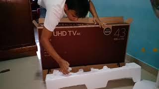 Unboxing UHD TV 4k LG 43 inch SMART TV